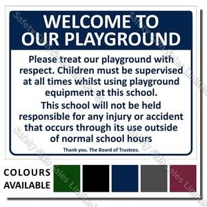 CYO|A01 School Playground Sign