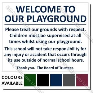 CYO|A02 School Playground Sign