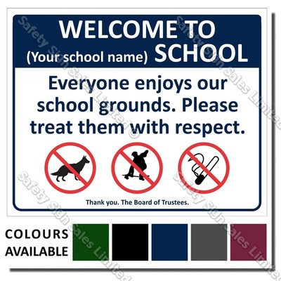 CYO|A03 - Welcome To Our School Sign