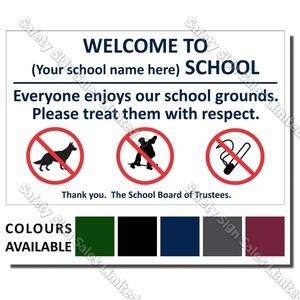 A07 - SCHOOL SIGN 5 300 X 480MM - WELCOME TO OUR SCHOOL