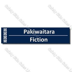 CYO|BIL Fiction - Bilingual Library Sign