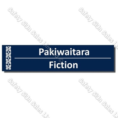 CYO|BIL Fiction - Bilingual Library Sign