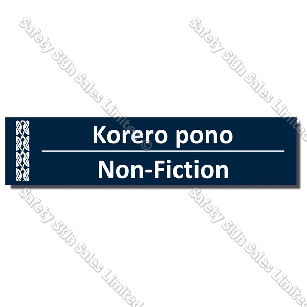 CYO|BIL Non-Fiction - Bilingual Library Sign