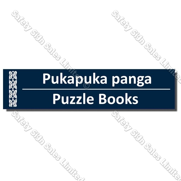 Code: CYO|BIL Puzzle Books - Bilingual Library Sign