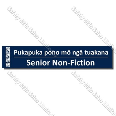 CYO|BIL Senior Non-Fiction - Bilingual Library Sign