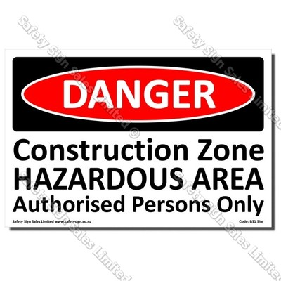 CYO|BS1 - Danger Construction Zone Sign