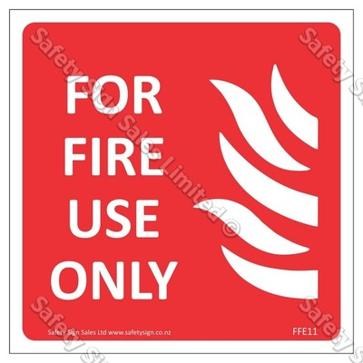 CYO|FFE11 Fire Use Only Label