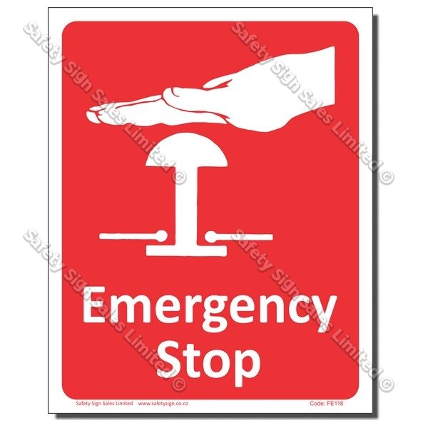 CYO|FFE18 Emergency Stop Sign