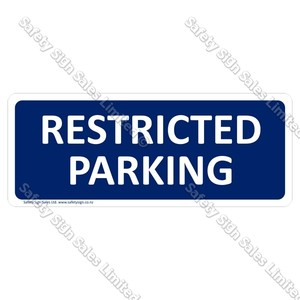 CYO|GA300 Restricted Parking Sign