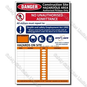 CYO|S02 - Construction Site Safe Sign