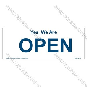 GA153 - Open/Closed Sign