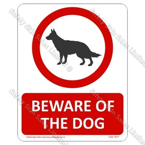 CYO|PA77 – Beware of The Dog Sign