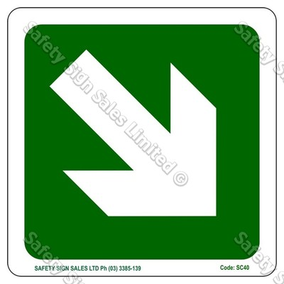 CYO|SC40 - Angled Arrow Sign