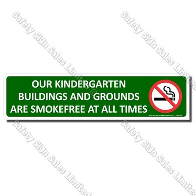 SF02 - Smokefree Kindergarten Sign