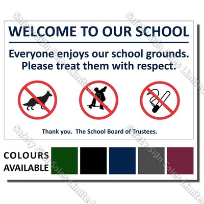 CYO|A07 Welcome to our School Sign