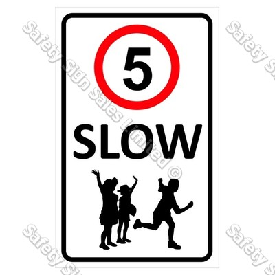 "CYO|CS12 ""Slow"" 5 km Sign"