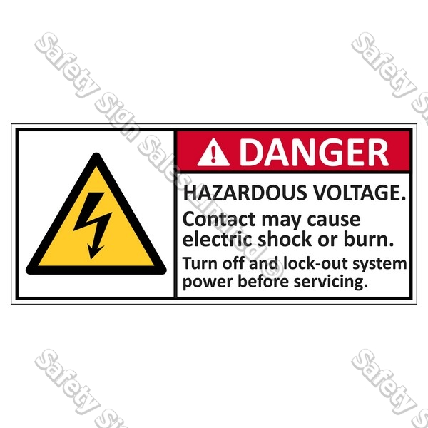 CYO|EL5 - Hazardous Voltage Label