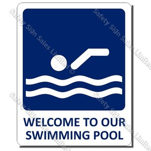 CYO|SP03 - Welcome To Our Pool Sign (Small)