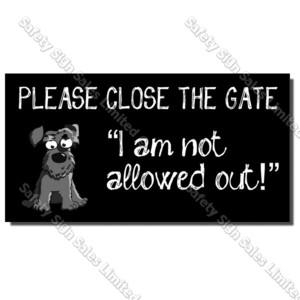 CYO|DS01 Dog Gate Sign