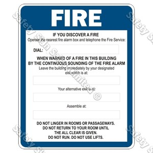 FE5 - Fire Evacuation Sign (Alarm)