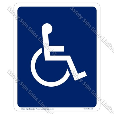 GA131 - Disability Access Symbol Sign