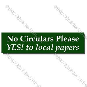 CYO|LB01 - No Circulars Please Label