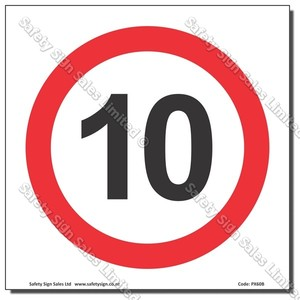 "CYO PX60 - Speed Sign ""10"""