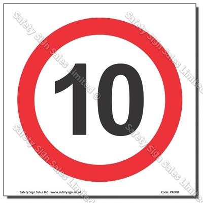 "CYO|PX60 - Speed Sign ""10"""