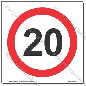 "CYO|PX60 - Speed Sign ""20"""