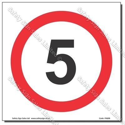 "CYO|PX60 - Speed Sign ""5"""