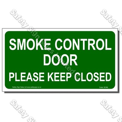 SC48L - Smoke Control Door Please Keep Closed Label