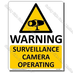 WA92L - Camera Surveillance Operating Label