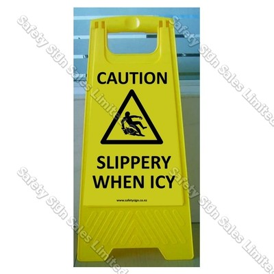 CYO|WG98B - Slippery When Icy Sign