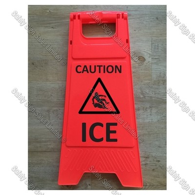 WG98 - CAUTION. ICE ORANGE SIGN