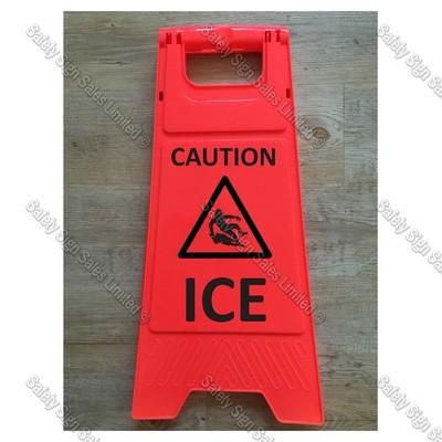 WG98 - CAUTION. ICE ORANGE SIGN