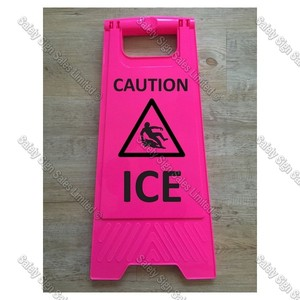 WG98 - CAUTION. ICE PINK SIGN