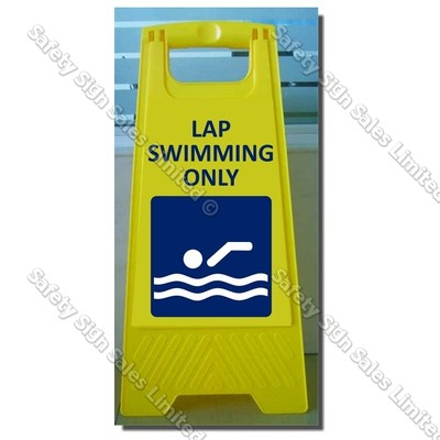 CYO|WG98J - Lap Swimming Only Sign