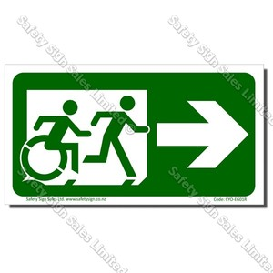 CYO|EG01R - Accessible Exit with RIGHT Arrow