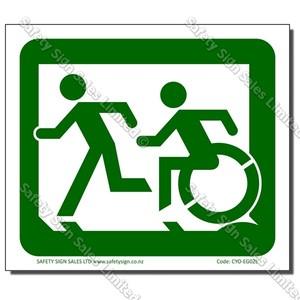 CYO-EG02L Accessible Exit Sign Left