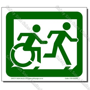 CYO|EG02R - Accessible Exit Sign RIGHT