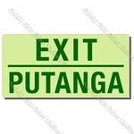 CYO|EG06GBD - Putanga/Exit Maori/English Glow-in-the-dark Sign