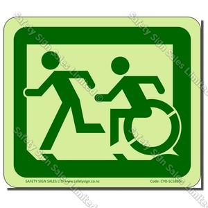 CYO|EG02GIDL - Accessible Exit Glow-In-The-Dark Sign LEFT