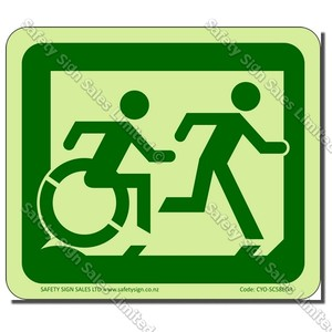 CYO|EG02GIDR - Accessible Exit Glow-In-The-Dark Sign RIGHT
