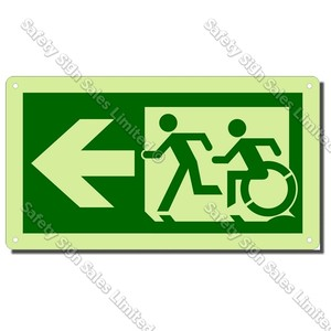 CYO|EG01GIDL - Accessible Exit Glow-In-The-Dark Sign LEFT
