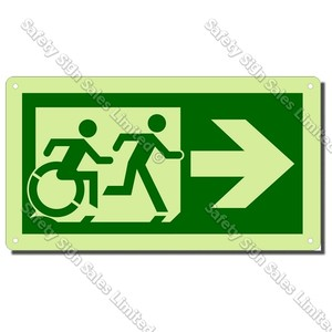 CYO|EG01GIDR - Accessible Exit Glow-In-The-Dark Sign RIGHT
