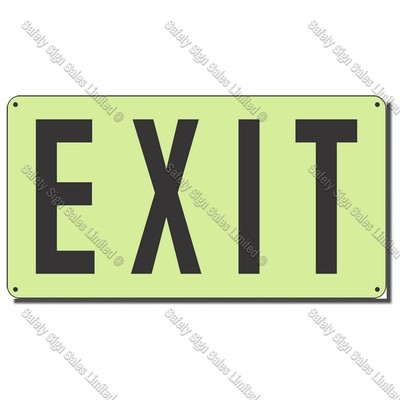 CYO|SCGID07 - Exit Glow-In-The-Dark Sign