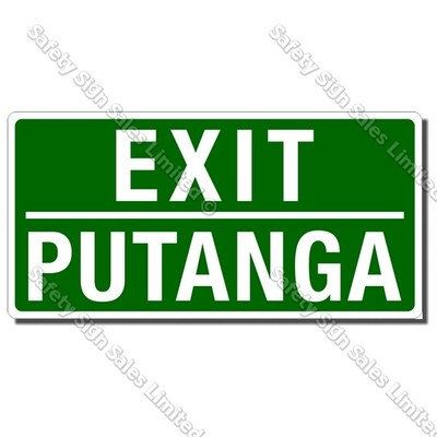 CYO|MSC38D - Exit Putanga Sign