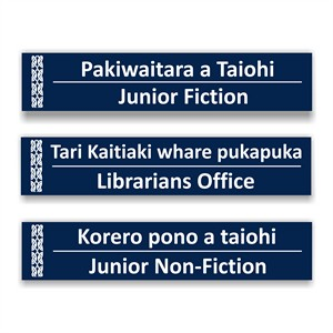 Bilingual Library Signs