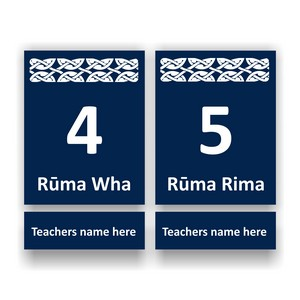 Bilingual Room Number Signs
