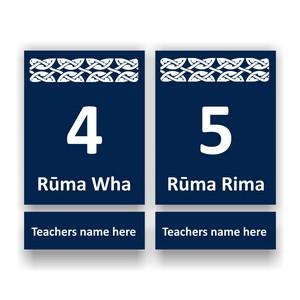 Te Reo Maori Number Signs